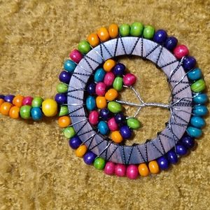 Tree of life beads Multi  coloured  18 inches long